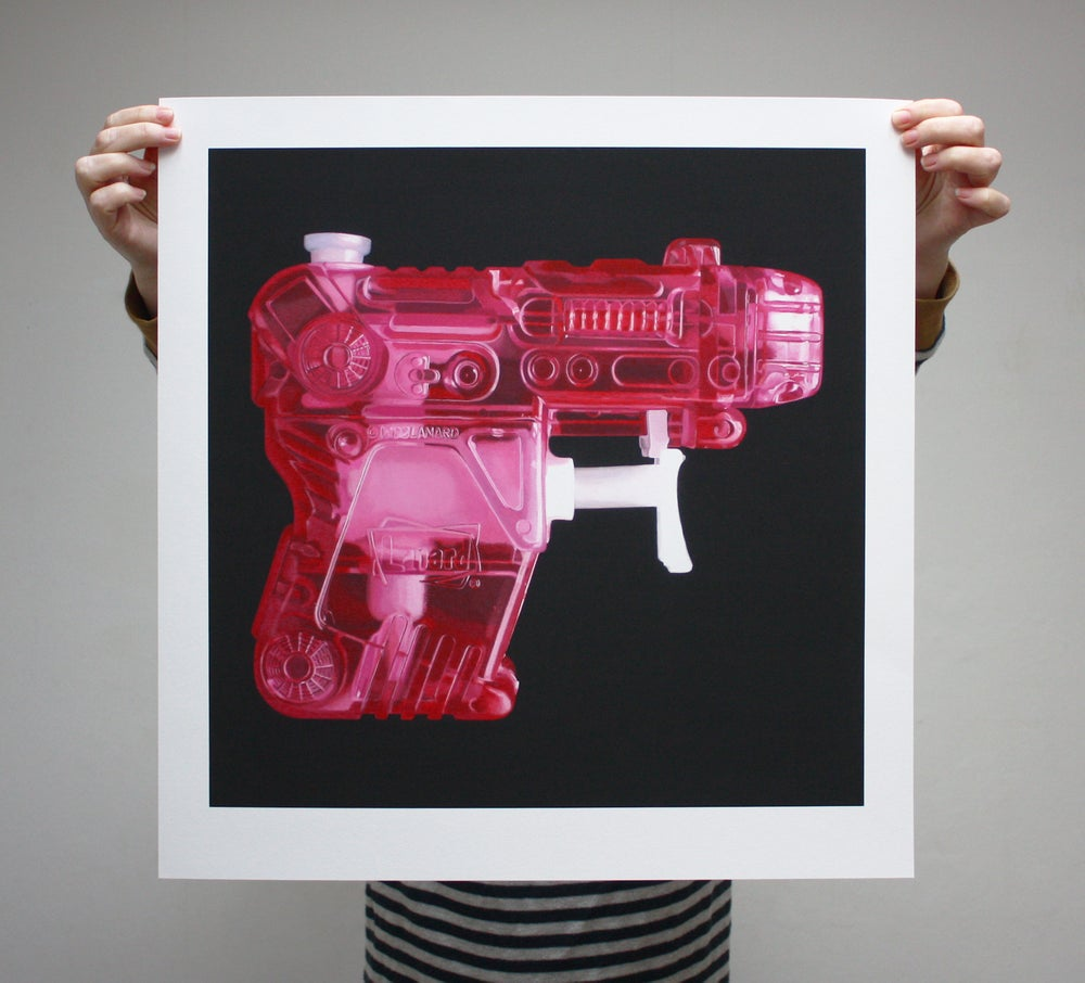 Image of 'Pink Pistol' - Limited Edition Print - 52cm x 54cm