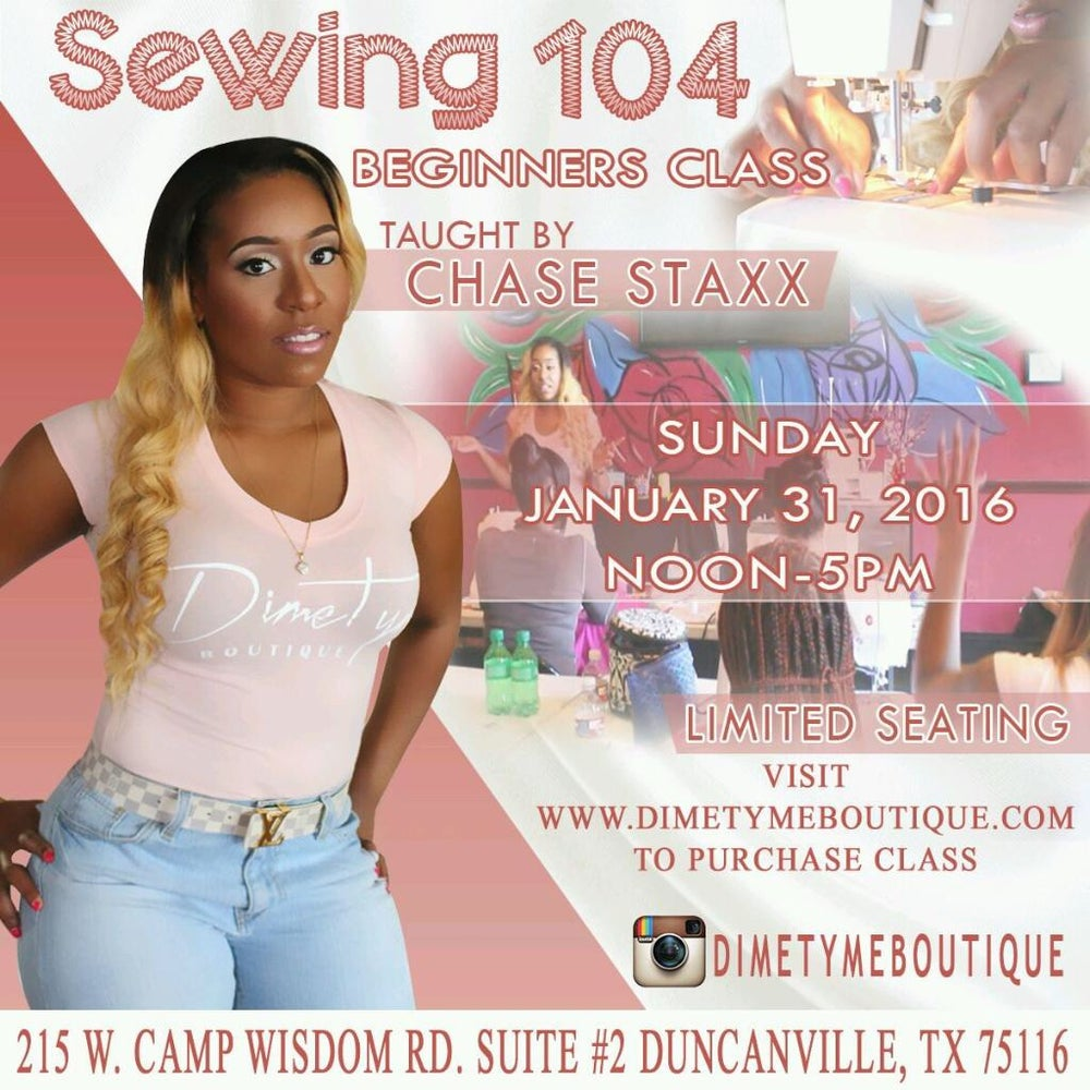 Image of Beginners Sewing Class 104