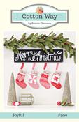 Image of Joyful Stocking Ornaments Paper Pattern #990