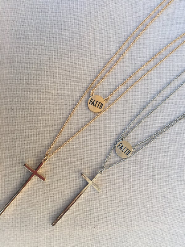 Image of Layered Faith Necklace Set
