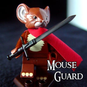 Image of Saxon - MOUSE GUARD Custom Minifigure - SHIPPING NOW!