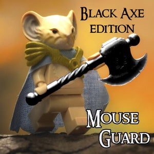 Image of Celanawe - MOUSE GUARD Custom Minifigure - BLACK - SHIPPING NOW!
