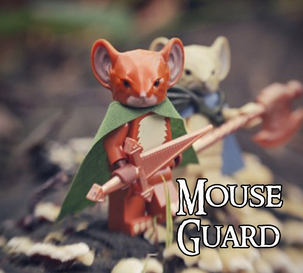Image of PRE ORDER! Lieam - MOUSE GUARD Custom Minifigure!
