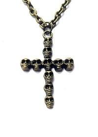 Image of Kool Jewels Bronze Skull Cross