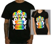 Image of Rainbow E-mo line Black T-shirt