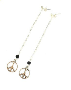 Image of Peace CND Hanging Earrings
