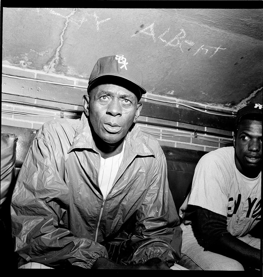 Image of Satchel Paige at 59 Years Old Playing An Exhibition Game at Comiskey