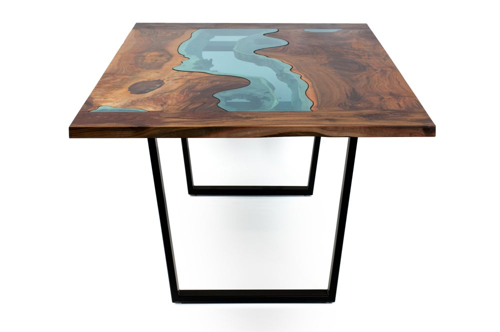 Image of oregon walnut river dining table