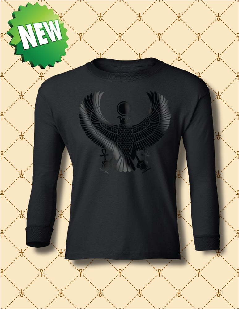 Image of YOUTH BLACK FOIL HRU LONG SLEEVE TSHIRT