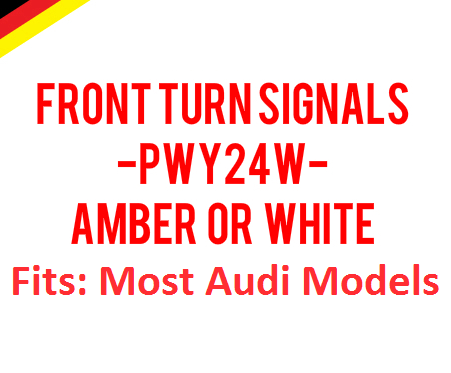 Image of New Amber or White PWY24W Front Turn Siganls Error Free Bright Fits: Most Audi Models