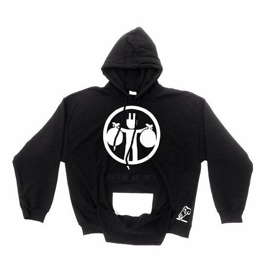 Image of Rolla Wear black hoodie (plug black)