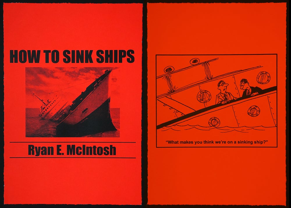 "Image of ""How To Sink Ships, 2016"" - Eight Print Portfolio - Edition of 20"