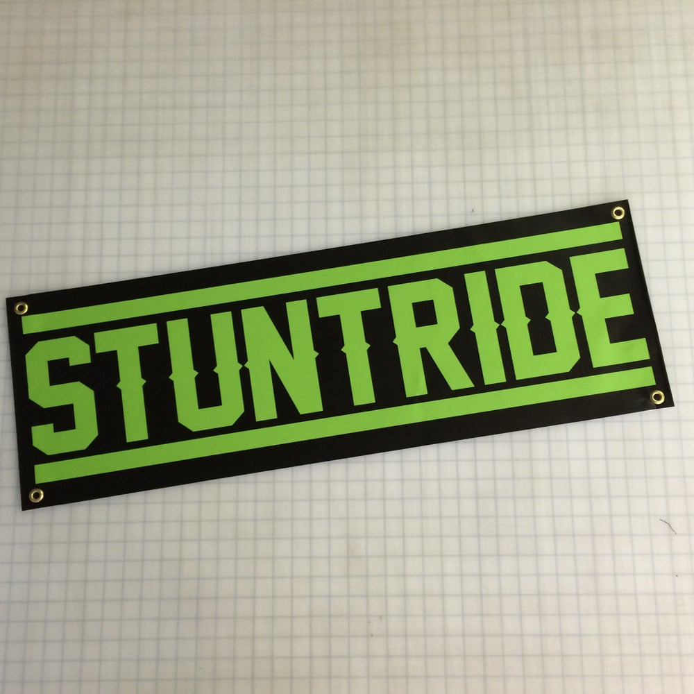 Image of Legendary Banner Lime Green on Black