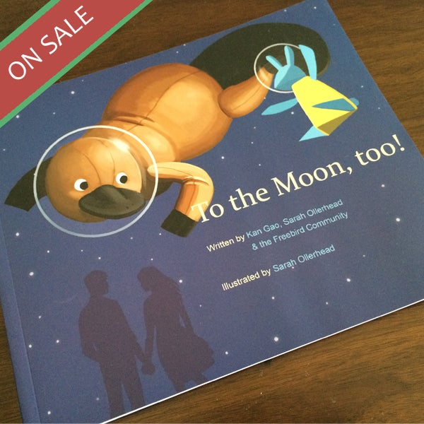 "Image of ""To the Moon, too!"" Printed Comic Book"