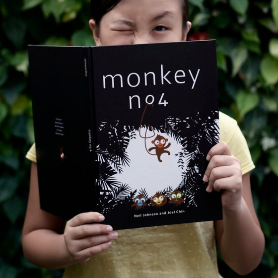 "Image of Monkey No.4<br><span style=""font-weight:normal""><em> A storybook by Joel & Neil</em></span>"