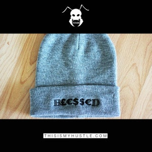 Image of B£€$$€D Beanie (Grey/Black)