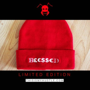 Image of B£€$$€D Beanie (Red/White) LIMITED EDITION
