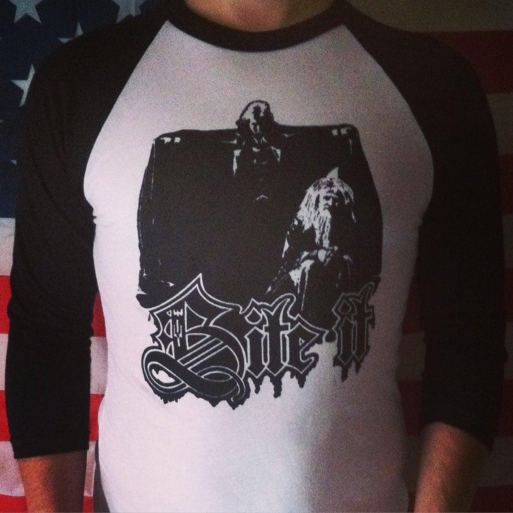 Image of BITE IT Raglan Baseball Shirt
