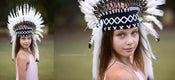 Image of Feather Headdresses - Short Style in Multiple Colors - Child to Adult