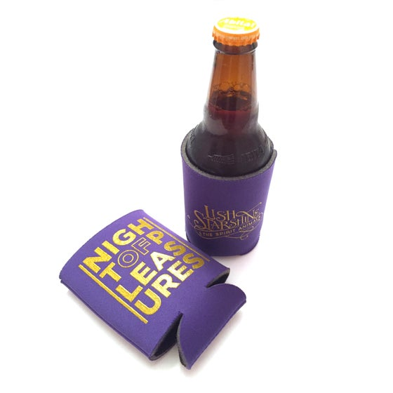 "Image of ""Night of Pleasures"" Koozie"
