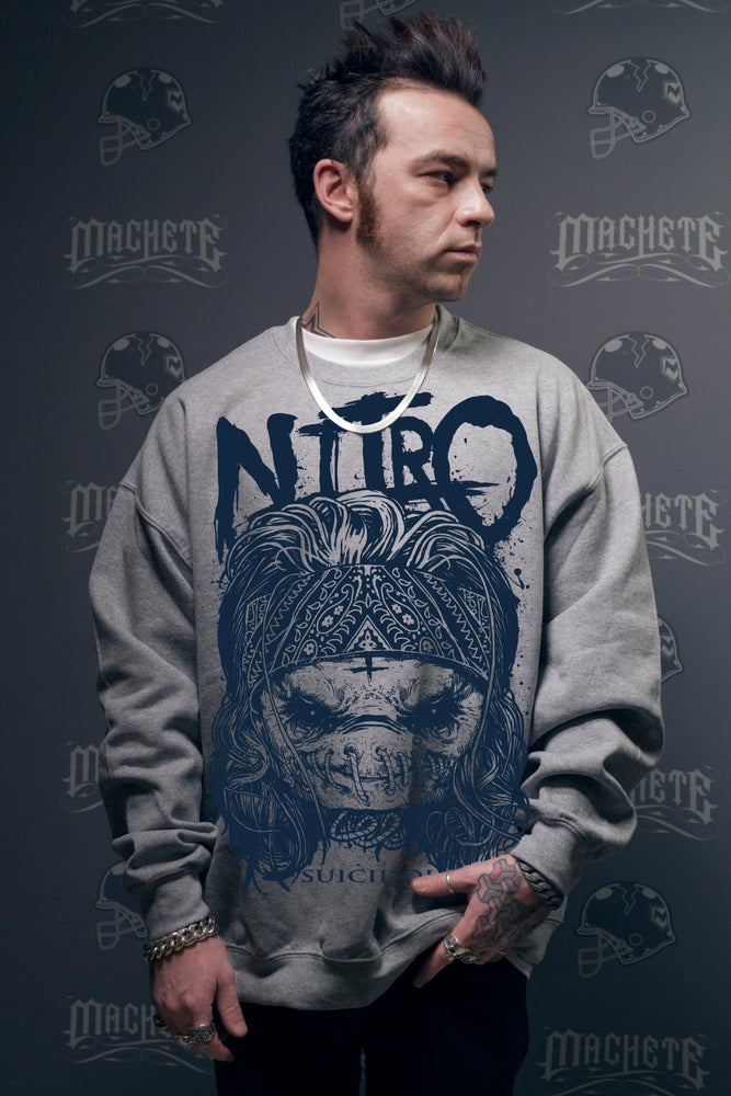 """Image of Nitro """"Suicidol"""" Crewneck grey"""