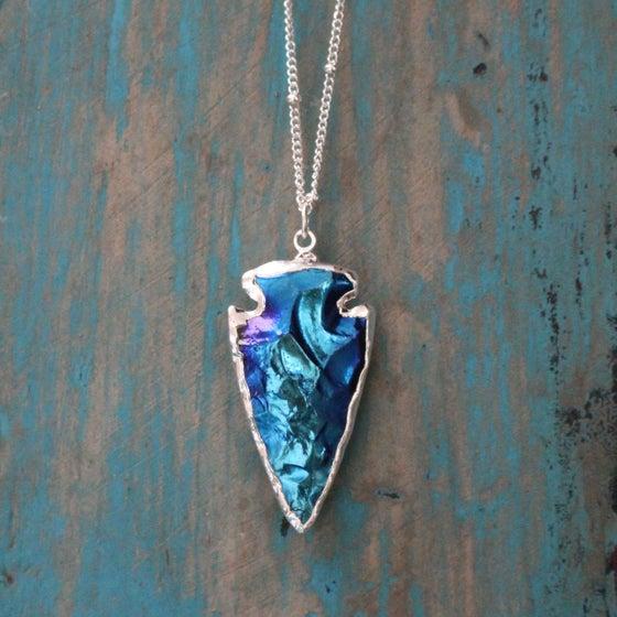 Image of Titanium coated arrowhead necklace
