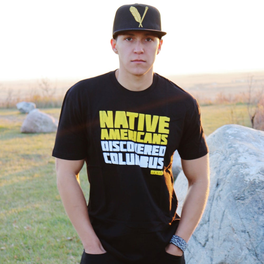 native americans discovered columbus tee beyond buckskin boutique image of native americans discovered columbus tee