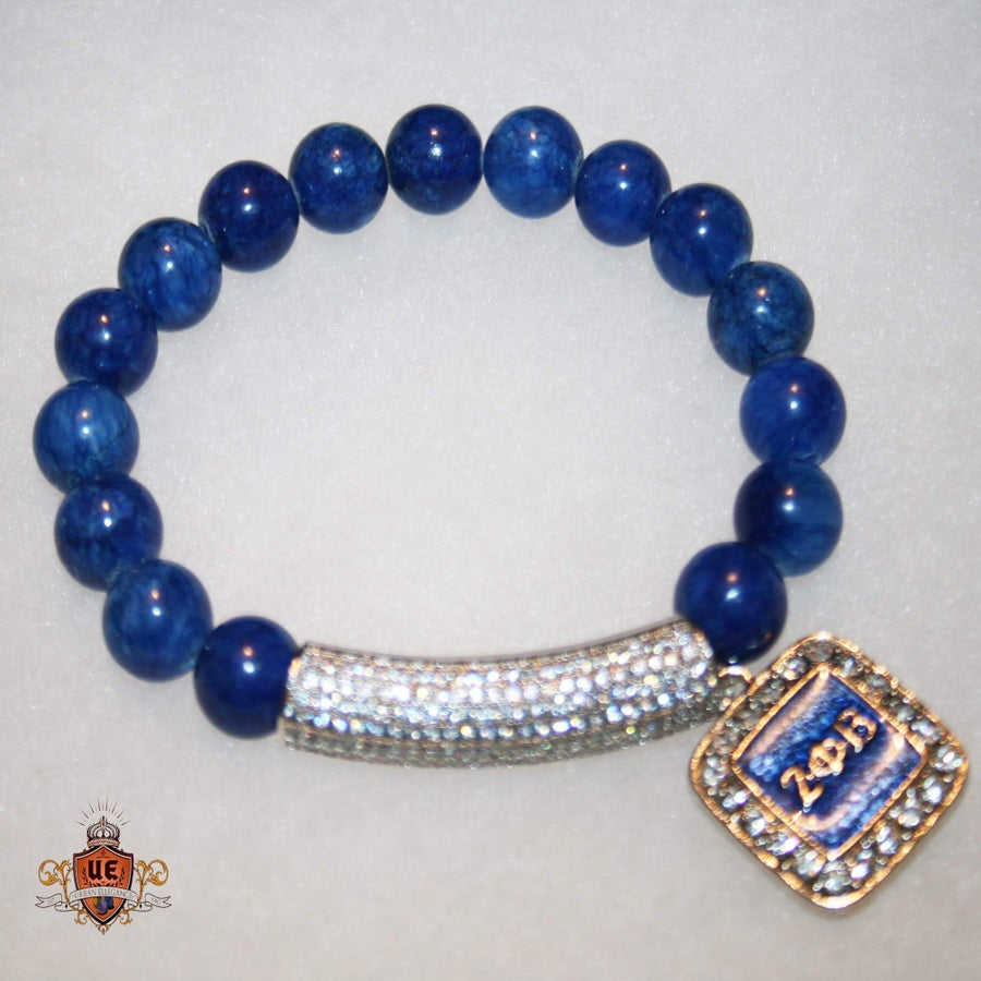 "Image of New!! Urban Ellegance ""Alumni"" Bracelet(Zeta Phi Beta) Inspired Armcandy Bracelet"