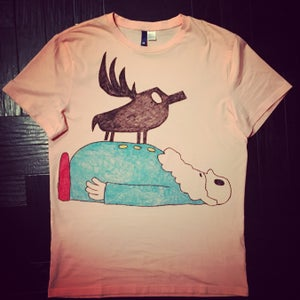 Image of BRAND NEW HAND-DRAWN TEE!! 'GEORGE STANDS ON THE CAPTAIN'
