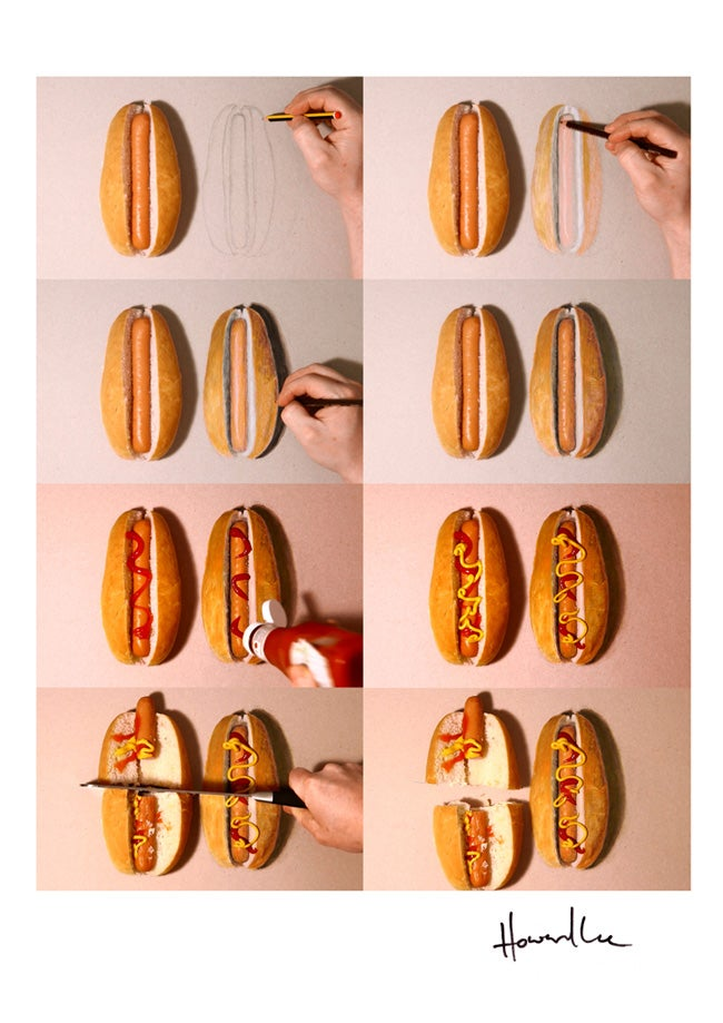 Image of Hot Dog Drawing Challenge Signed Print