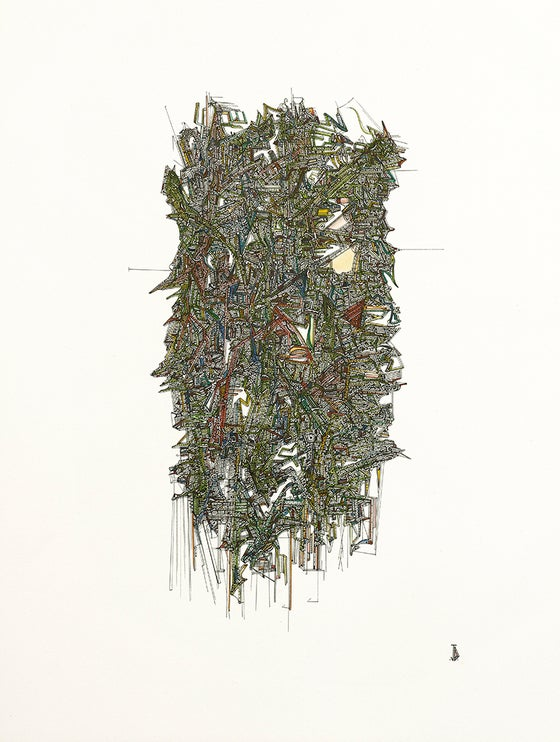 Image of Green With Greed - A3+ signed high quality fine art archival print.