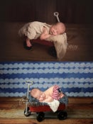 Image of Tiny Red Wagon - Photography Prop - Newborn & Sitter