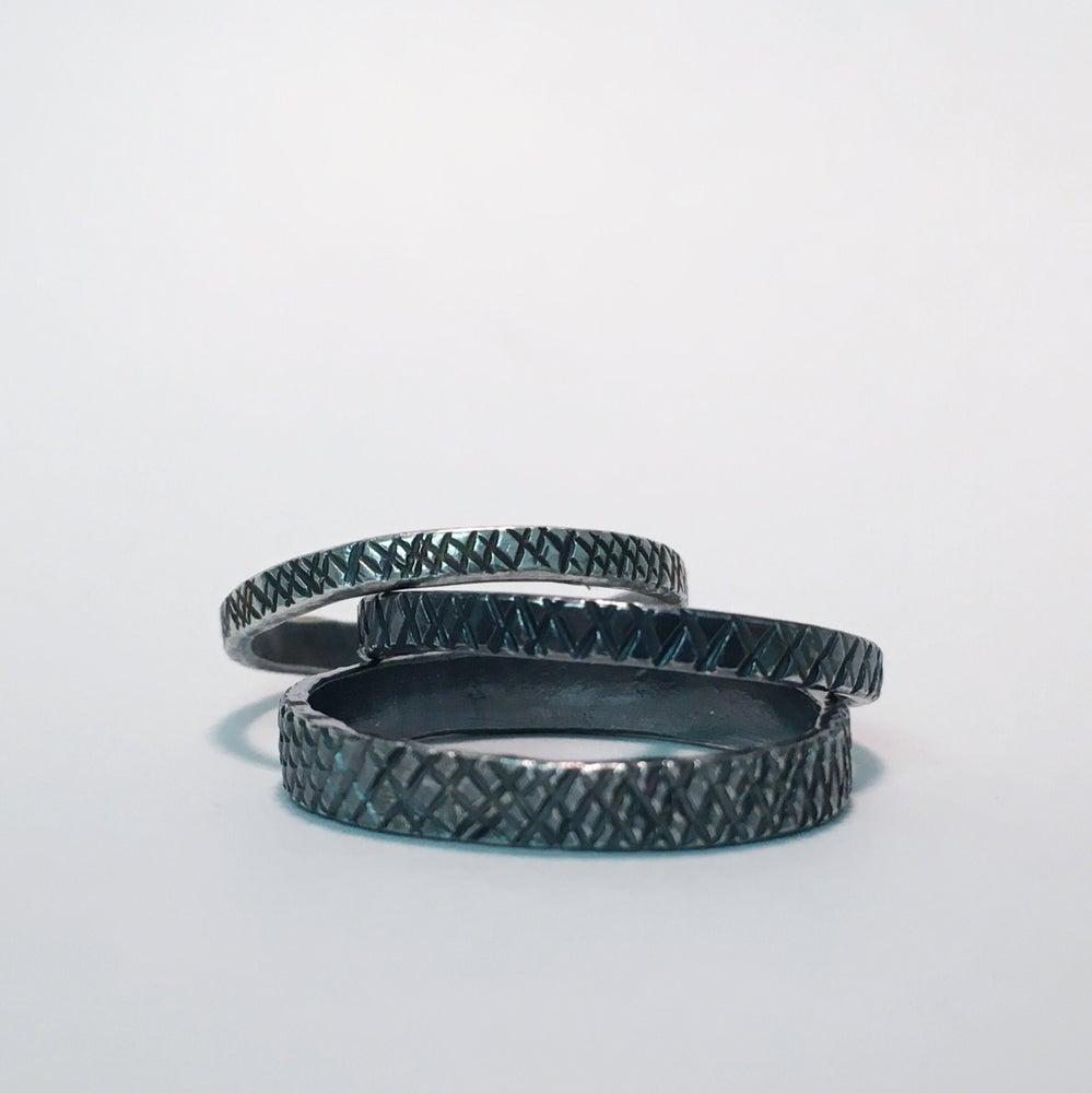 Image of Silver Snakeskin Ring in stock.