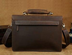 """Image of Men's Handmade Vintage Leather Briefcase / Messenger / 14"""" 15"""" Laptop 15"""" MacBook Bag (n47-2)"""