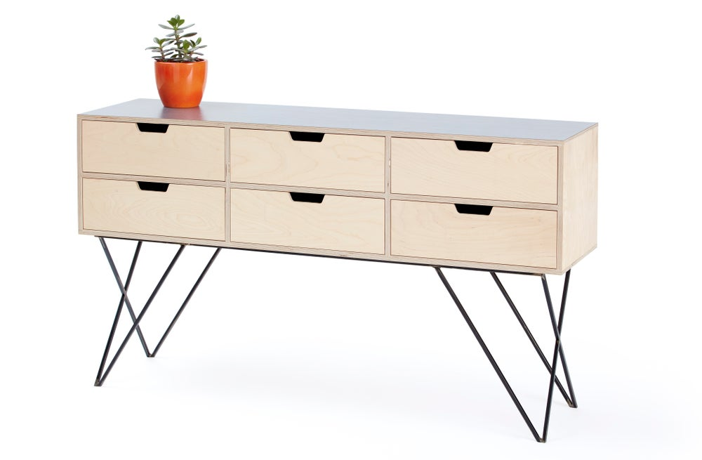 Image of Leonard sideboard in dark grey