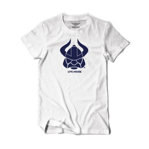 Image of LH Viking Head (Navy On White)