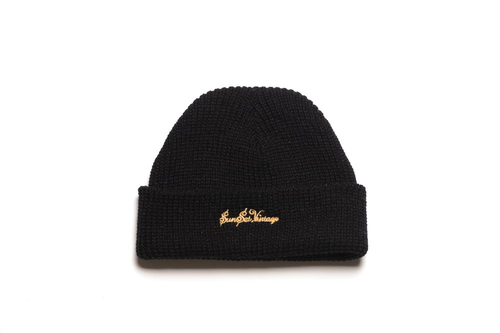 Image of GRIME Short Beanie - Black