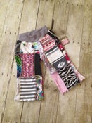 Image of Patchwork Capris size 3 pink/black