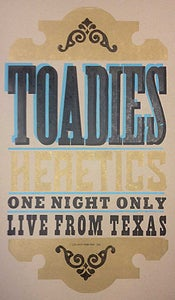 Image of Toadies : Heretics Poster