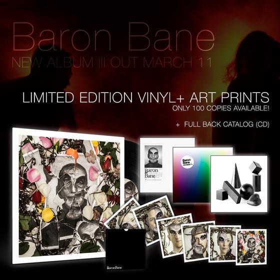 Image of Baron Bane - III (black vinyl LP + art prints + CD back catalog)