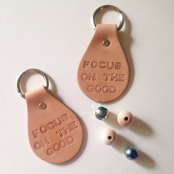 Image of Focus On The Good Leather Key Chain