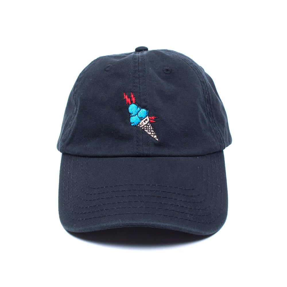 "Image of ""Brrr"" Low Profile Sports Cap - Black"