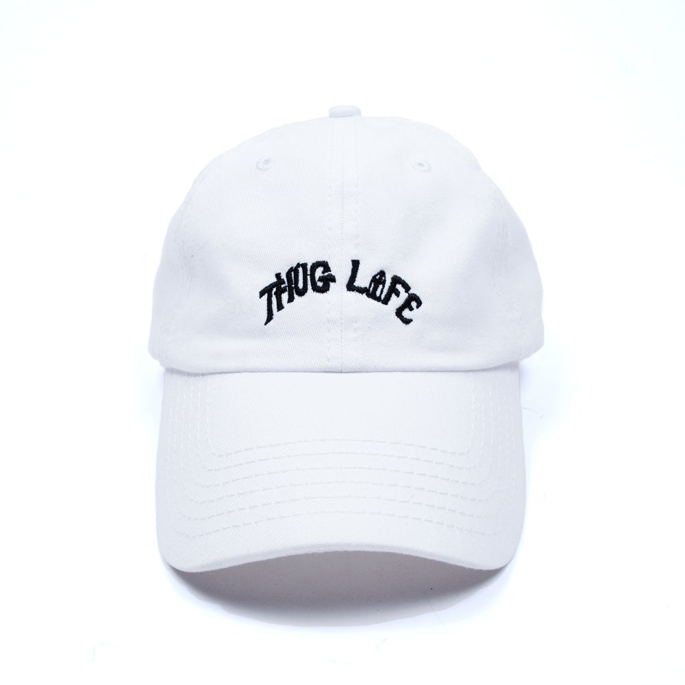 Image of Thug Life Low Profile Sports Cap - White