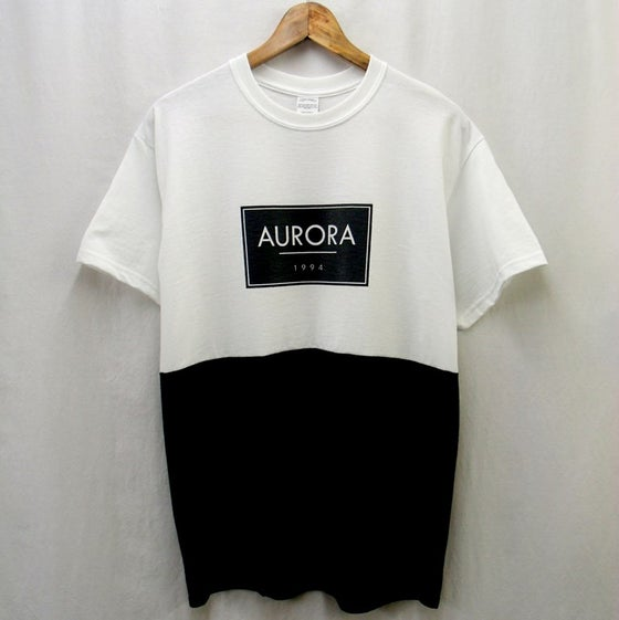 Image of White//black panel box logo t-shirt