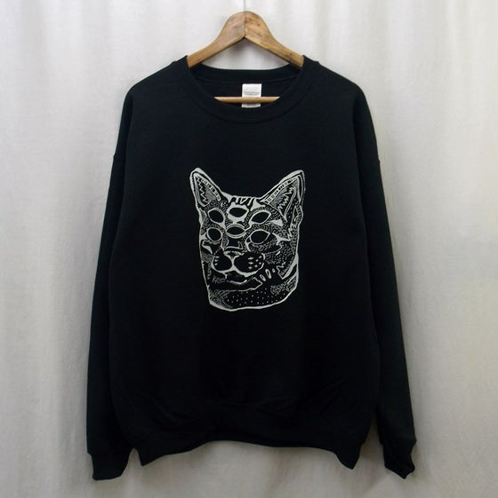 Image of Trans-dimensional acid cat sweatshirt