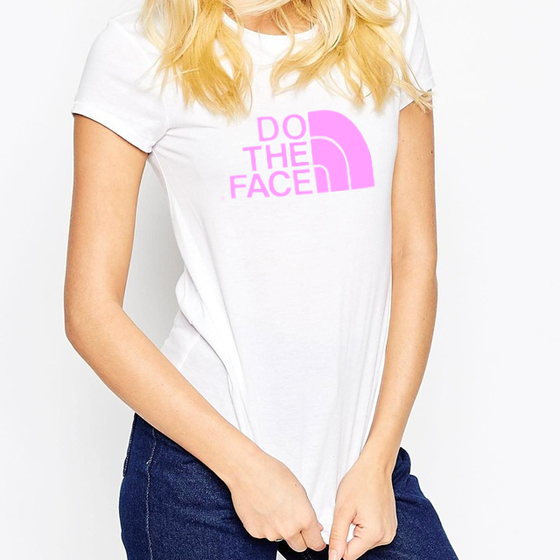 Image of Limited Edition DO THE FACE T-shirt (White/Candy Pink)
