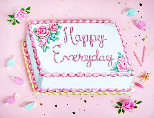 Image of Happy Everyday cake diecut (wood plaque)