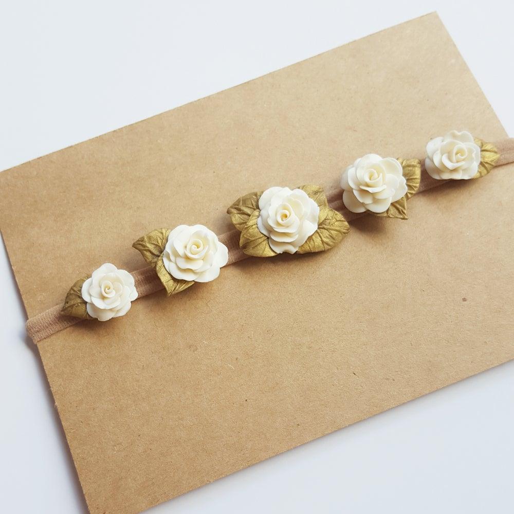 Image of Cream Blossom Crown