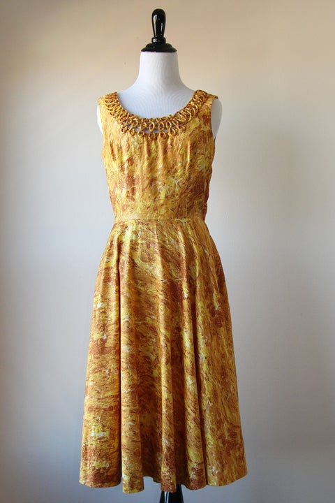 Image of Golden Flames Dress