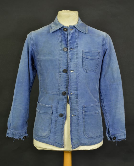 Image of 1920'S FRENCH le Mont st michel MOLESKIN WORK JACKET